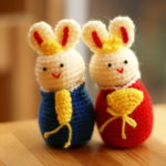 手編みのお雛様